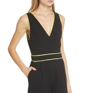 Alice and Olivia blk/neon jumpsuit